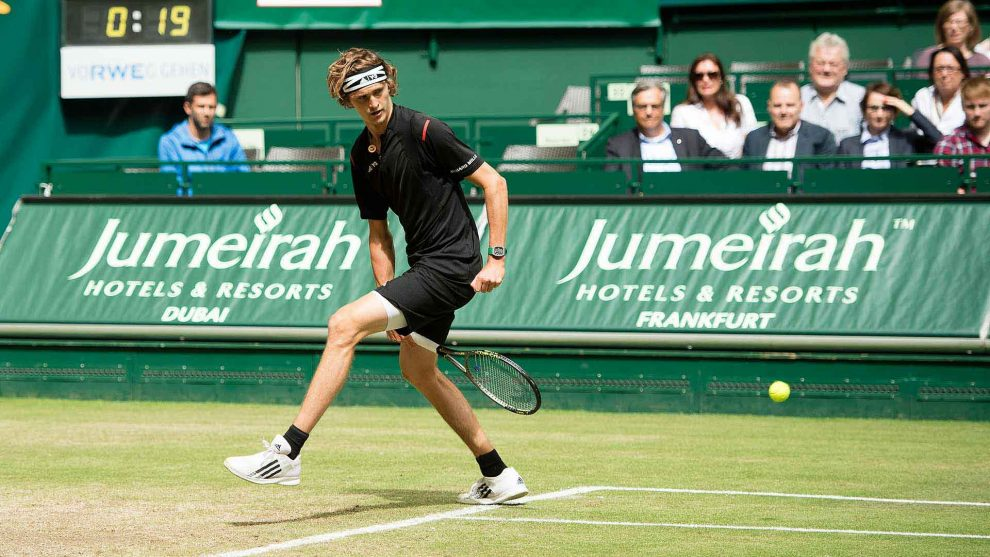 Alexander Zverev consigue un willy en la final de Halle 2016
