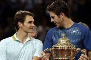 Del Potro y Federer en la final de Basilea 2013