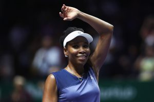 Venus Williams celebra su pase a la final de Singapur