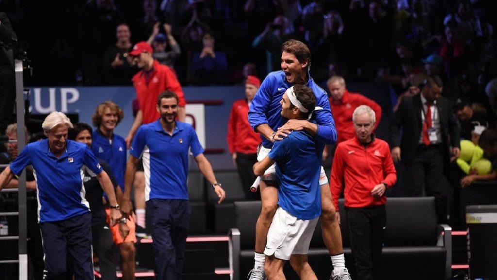 Abrazo Nadal Federer Laver Cup 2017