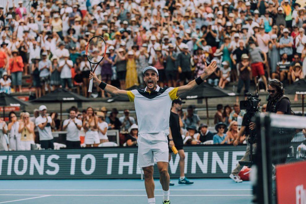 Bautista celebra el título de Auckand 2018