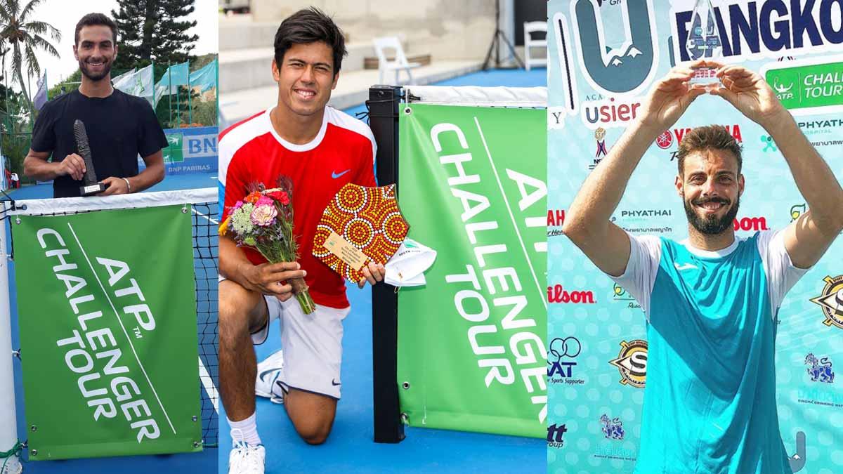 Campeones Challenger Bangkok, Noumea y Playford 2018