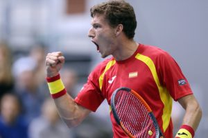 Pablo Carreño con España en la Copa Davis