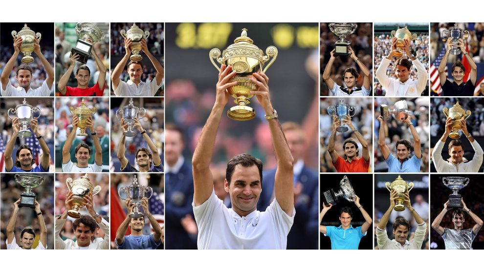 Federer y sus Grand Slams