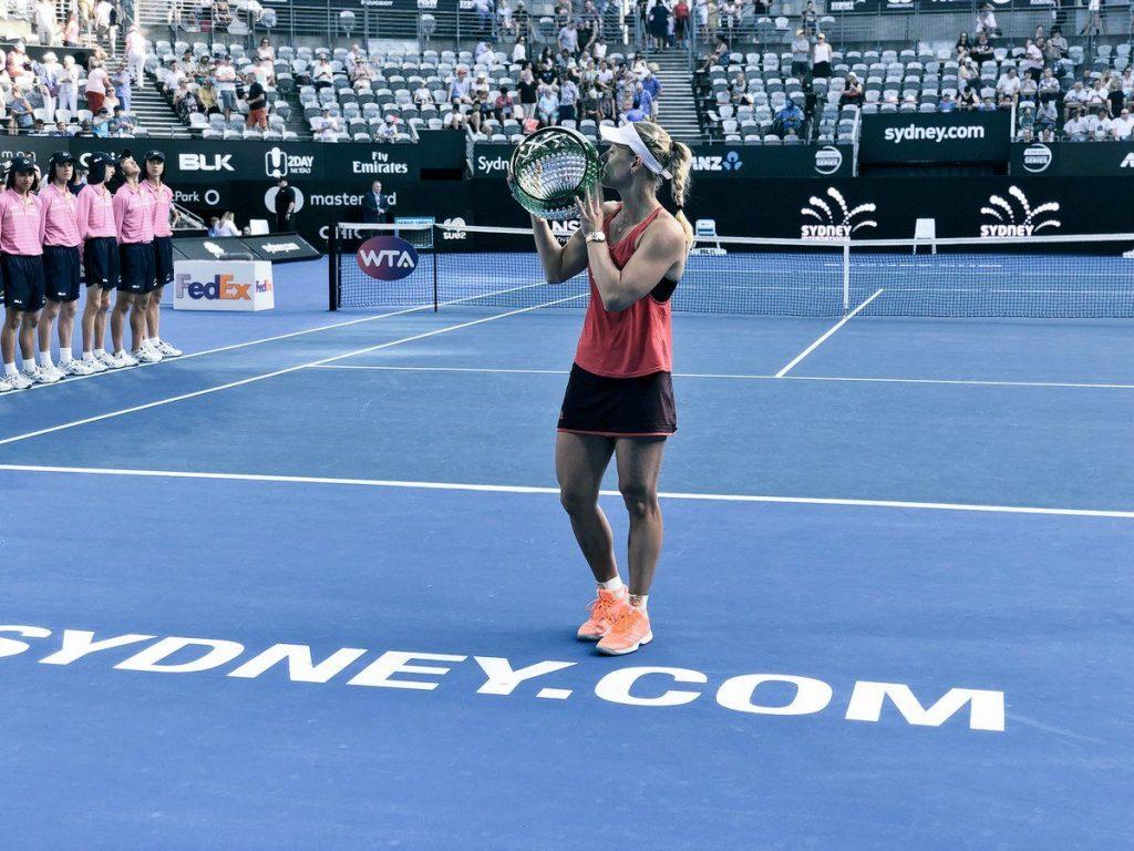 Kerber con el título de Sydney