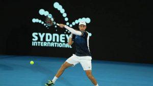 Muller golpea una derecha en el ATP Sidney 2018