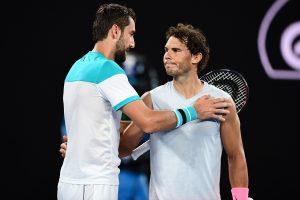 Nadal y Cilic se saludan Open de Australia 2018
