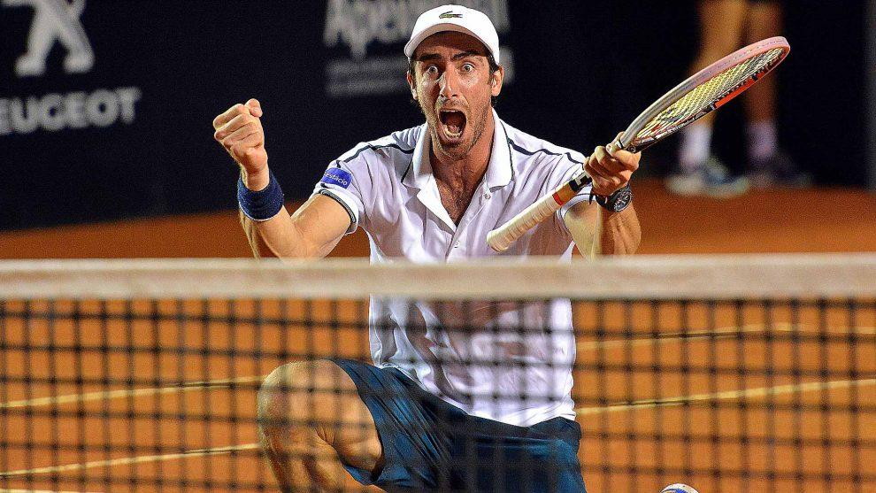 Pablo Cuevas celebra una victoria
