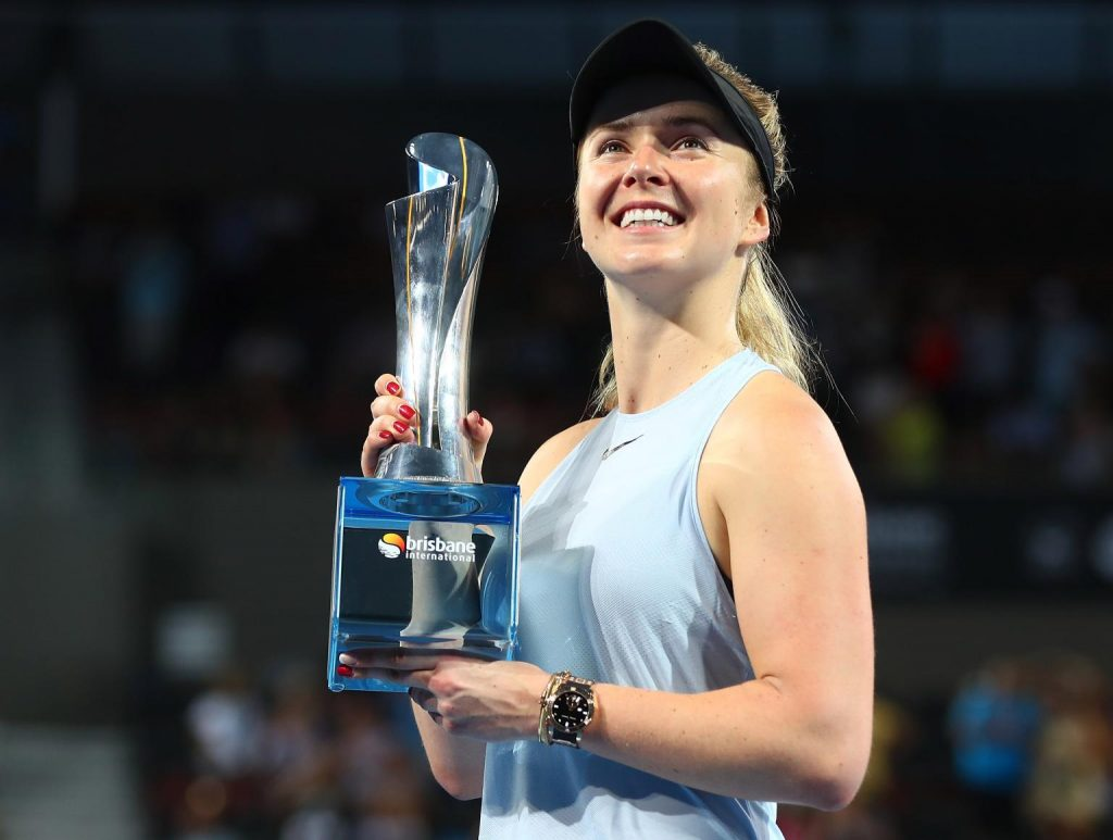 Svitolina con el título del WTA de Brisbane 2018