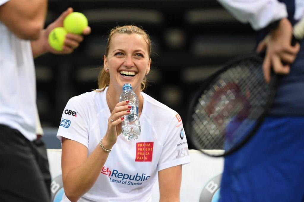 Petra Kvitova entrenando con la República Checa en la Fed Cup