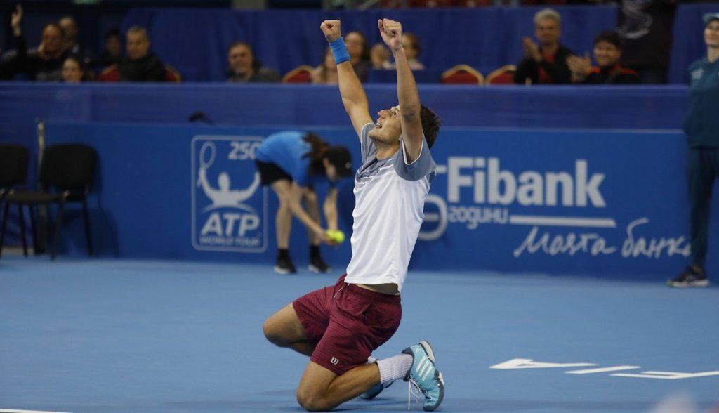 Mirza Basic celebra el triunfo en el ATP de Sofía