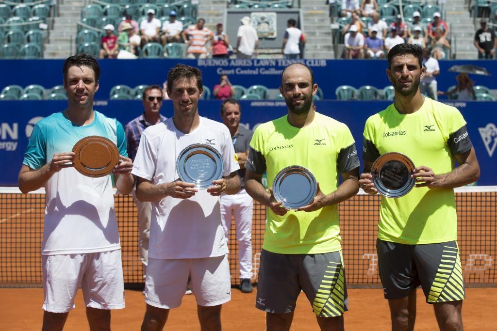 Los campeones y subcampeones del dobles en el ATP 250 de Buenos Aires