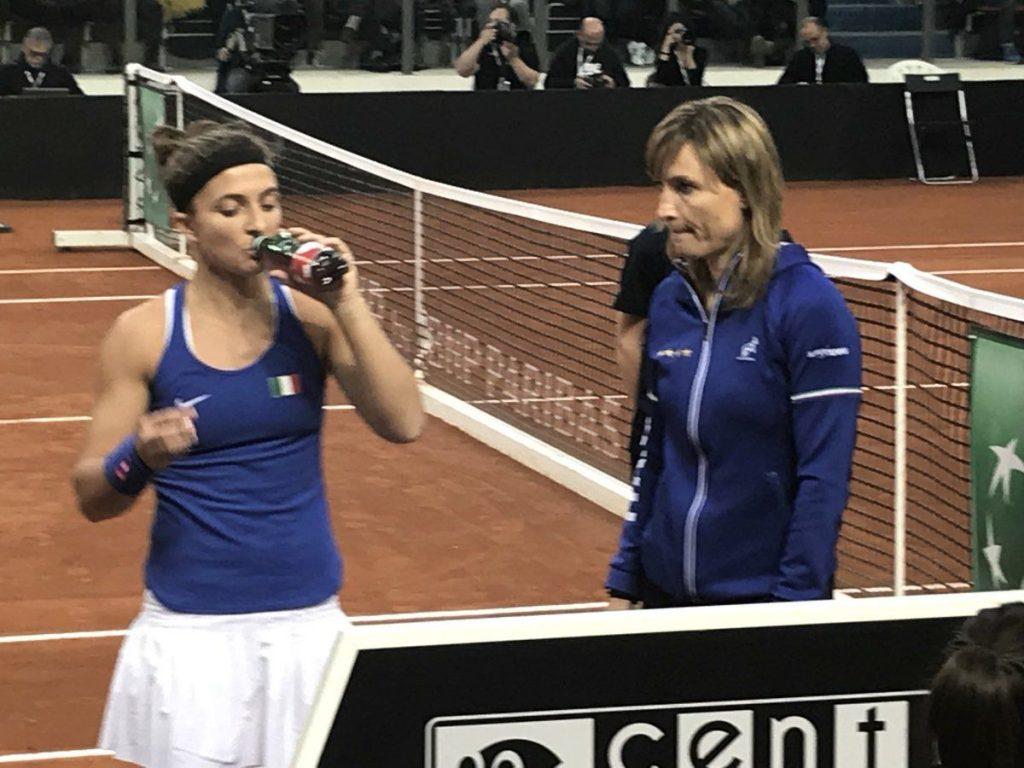 Sara Errani con Italia en la Fed Cup