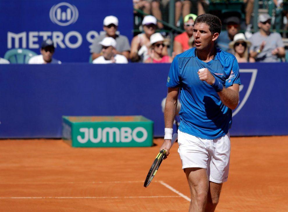 Delbonis celebra un punto en el Argentina Open