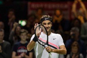 Federer ovaciona al público en el ATP de Rotterdam