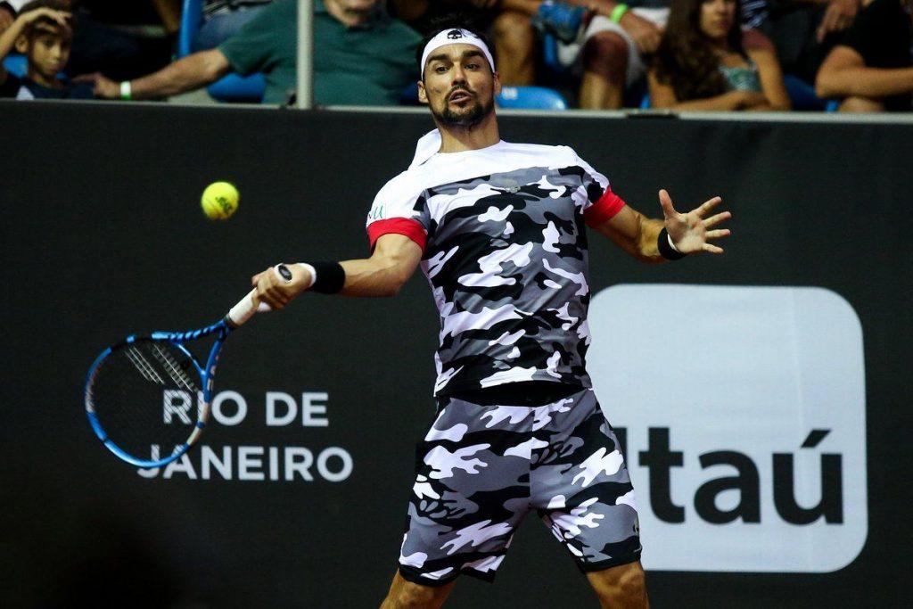 Fognini golpea una derecha en el Rio Open