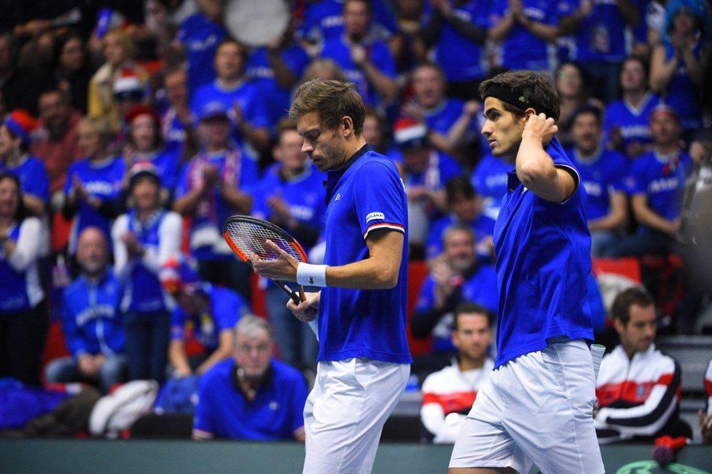 Herbert y Mahut en su partido de dobles ante Holanda