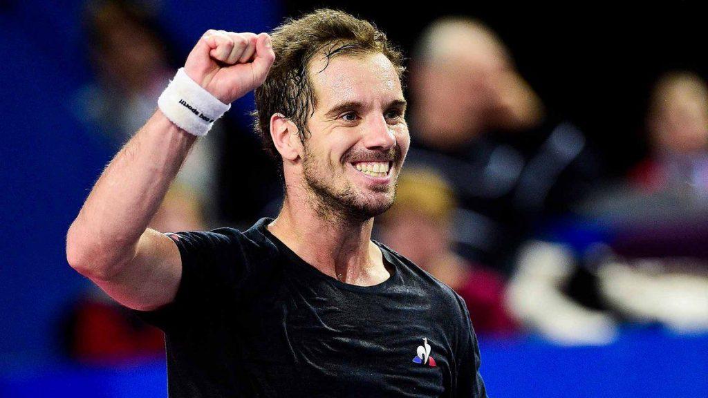 Richard Gasquet celebra la victoria en el ATP de Montpellier