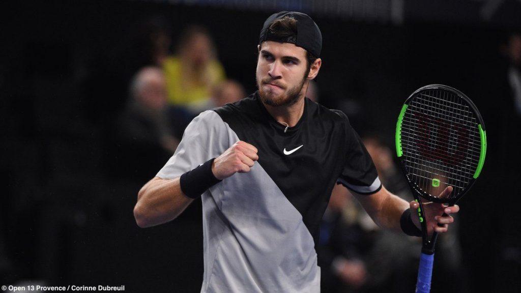 Khachanov celebra el triunfo en el ATP de Marsella