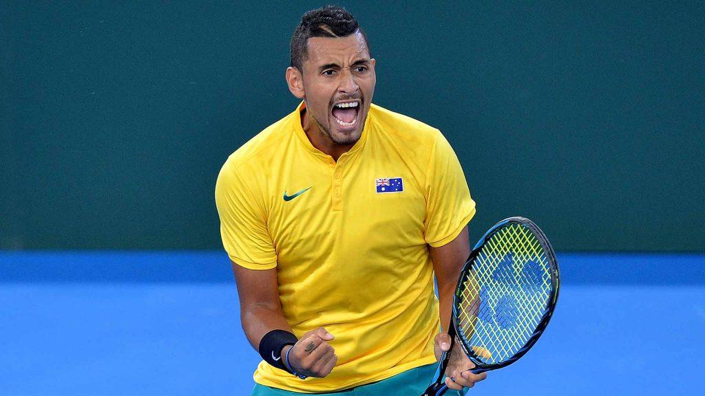 Kyrgios en la Copa Davis con Australia