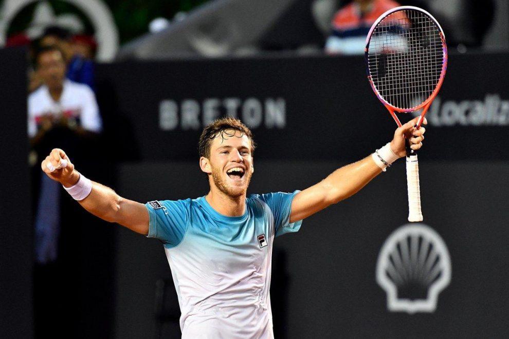 Schwartzman celebra la victoria en el ATP Rio de Janeiro