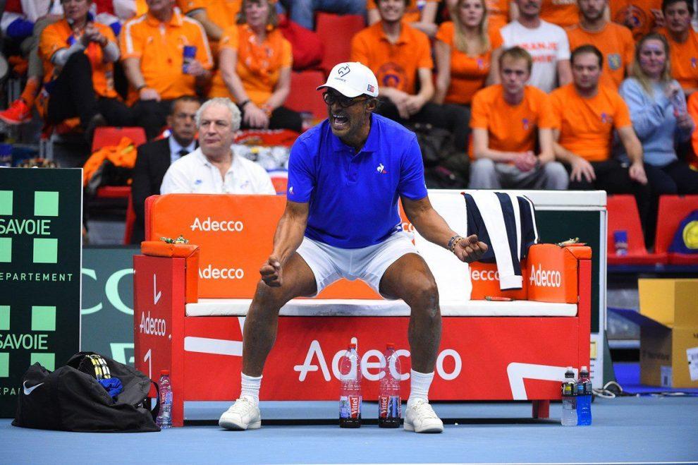 Noah celebra el triunfo de Francia en Copa Davis