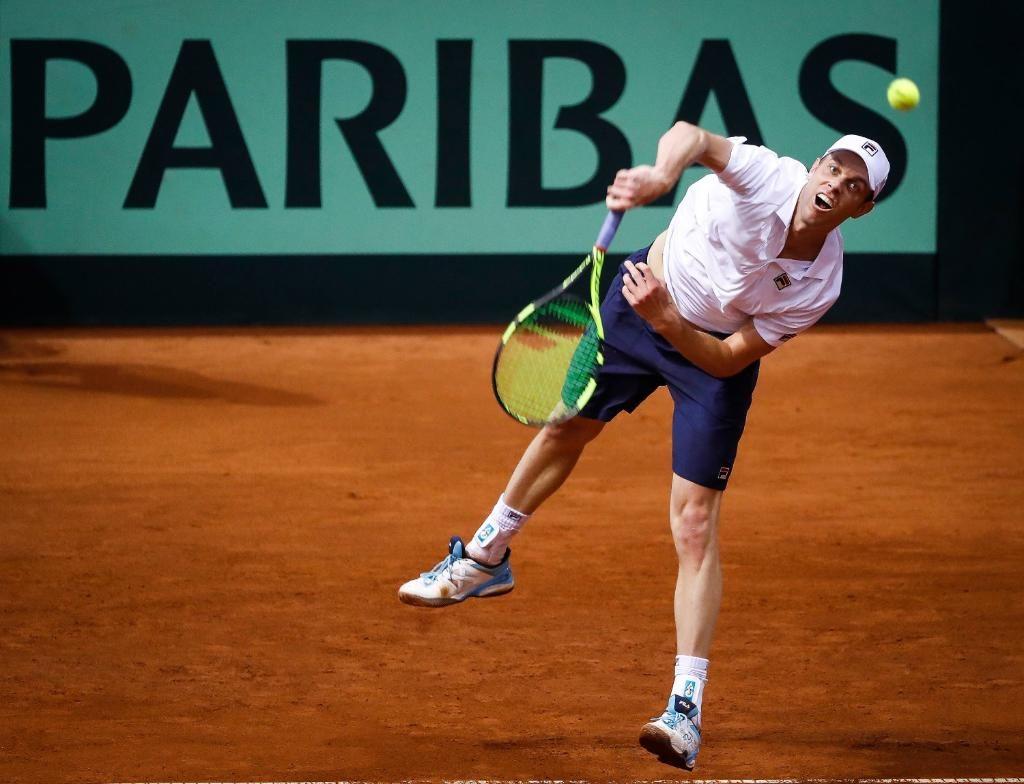 Querrey en el partido de Copa Davis ante Serbia