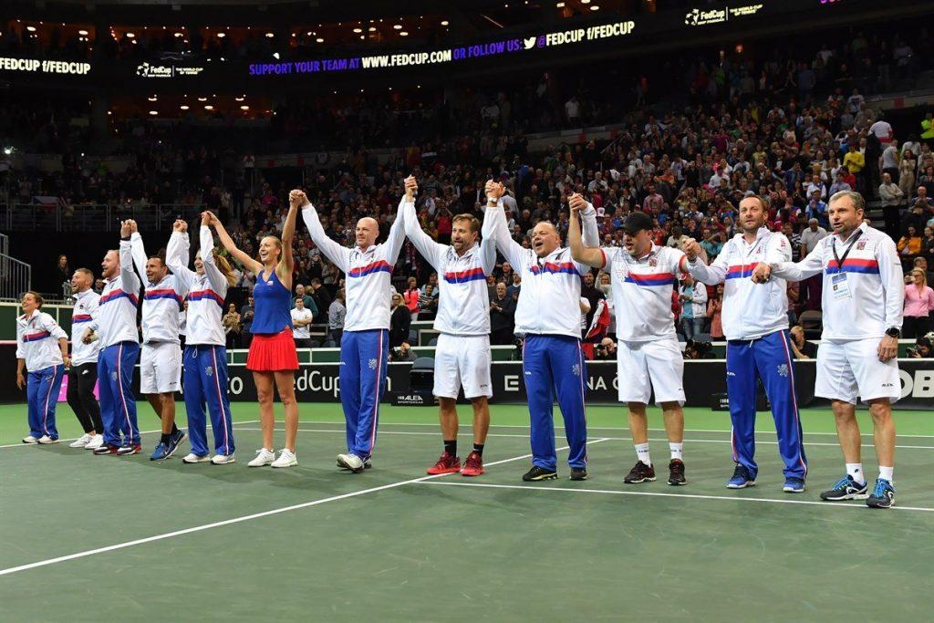 La República Checa celebra el pase a las semifinales de la Fed Cup