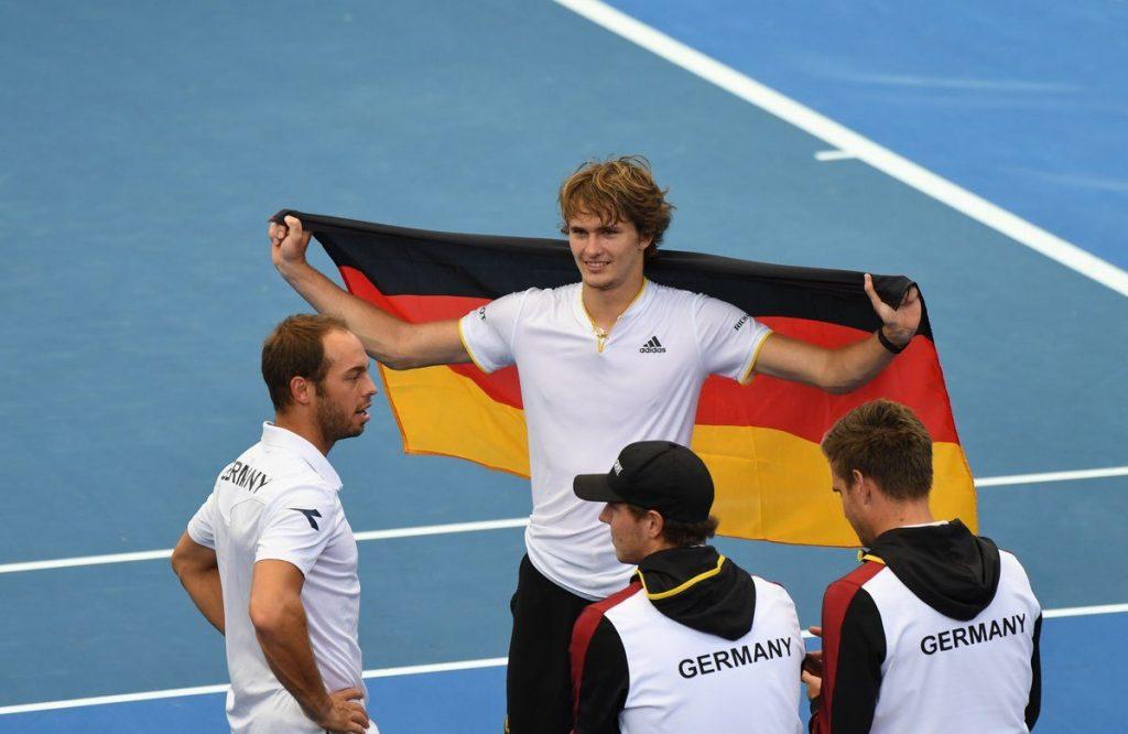Alexander Zverev celebra el triunfo de Alemania