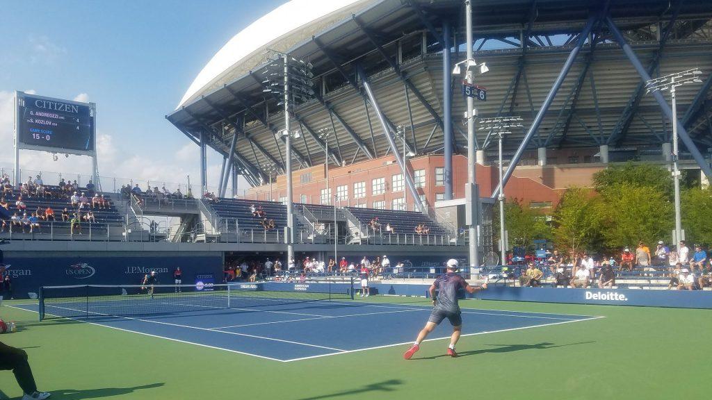 Un partido disputado en el US Open