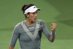 Garbiñe celebra un punto en el WTA de Dubai