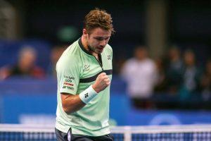 Stan Wawrinka celebra un punto en el ATP de Sofía