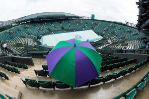 Un espectador en Wimbledon