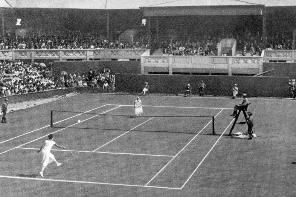Un partido de Wimbledon en blanco y negro