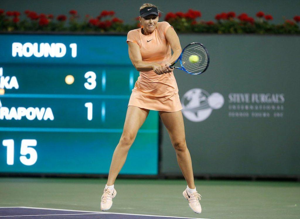 Sharapova pierde en el debut de Indian Wells