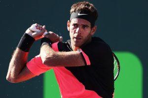 Del Potro golpea un revés en el Miami Open