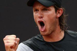 Jarry celebra un punto en el Miami Open