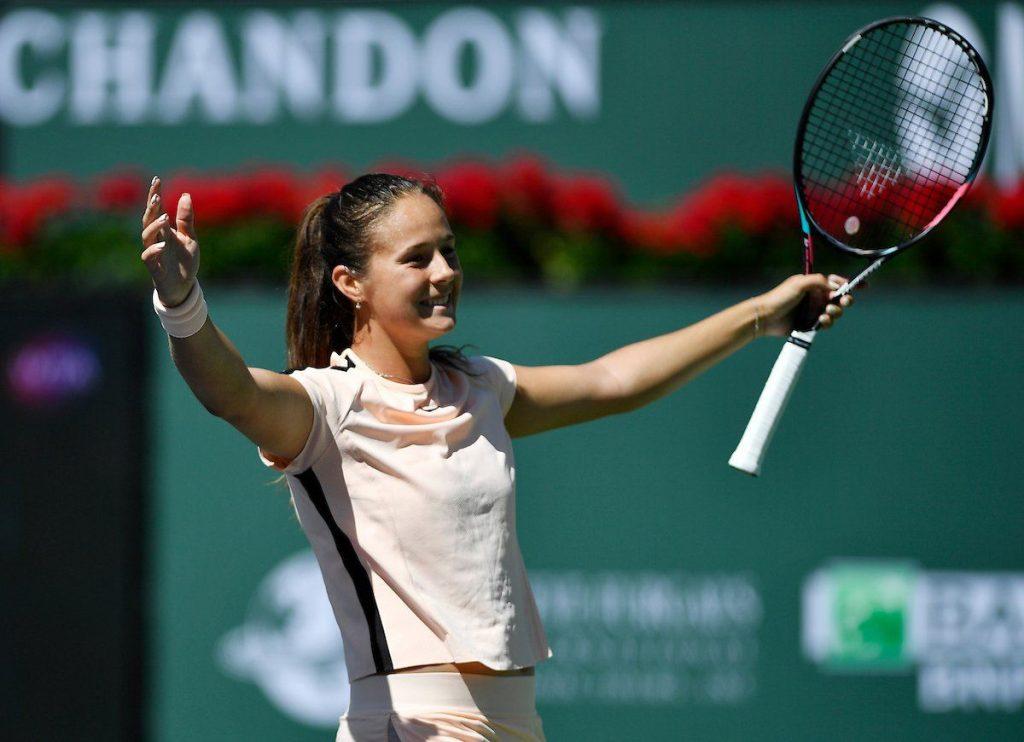 Kasatkina celebra el pase a semifinales en Indian Wells