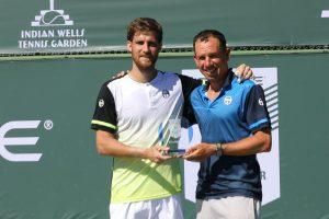 Klizan conel entrenador y el título del Challenger de Indian Wells