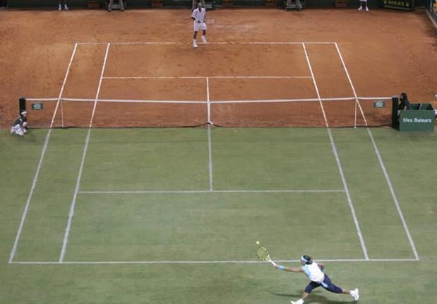 diferentes superficies tenis