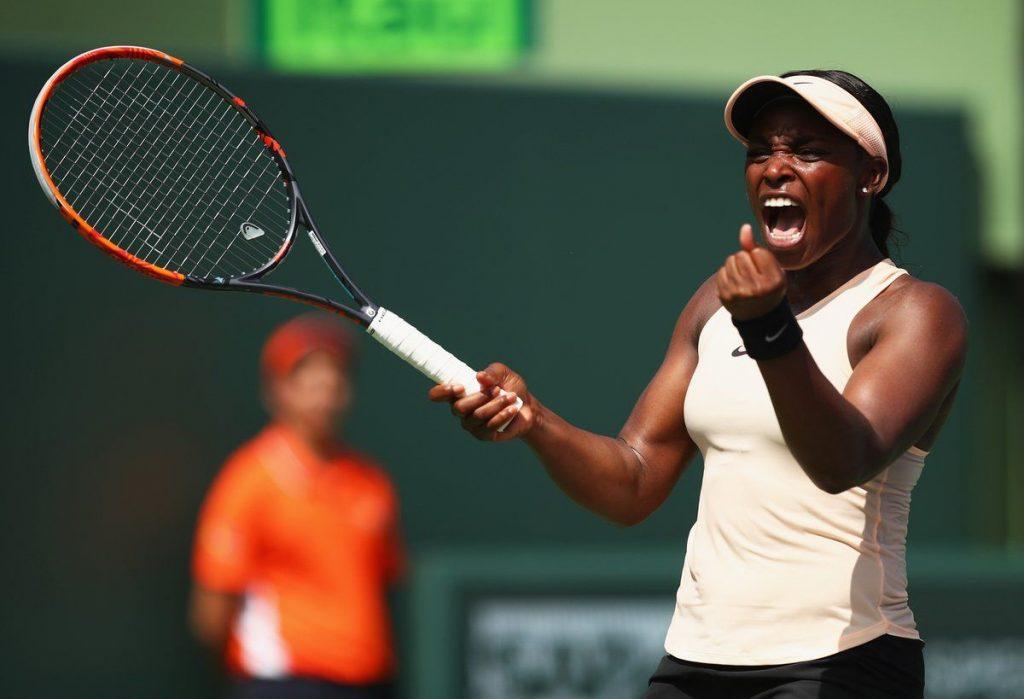 Sloane Stephens celebra la victoria ante Azarenka en el Miami Open