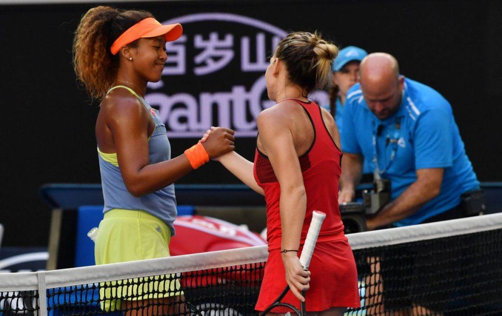 Osaka saluda a Halep tras vencer en Indian Wells