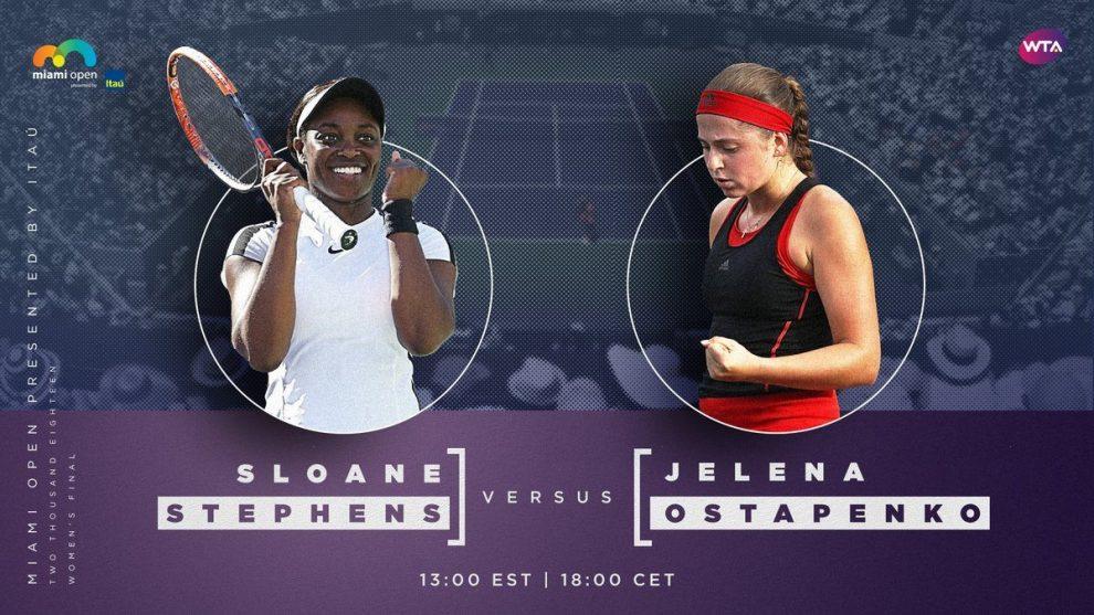 Stephens y Ostpaneko Miami Open final2018