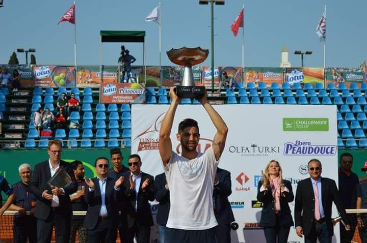 Andreozzi con el título del Challenger de Túnez