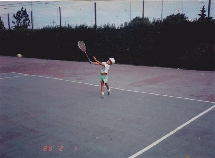 Carlos Berlocq con cinco años