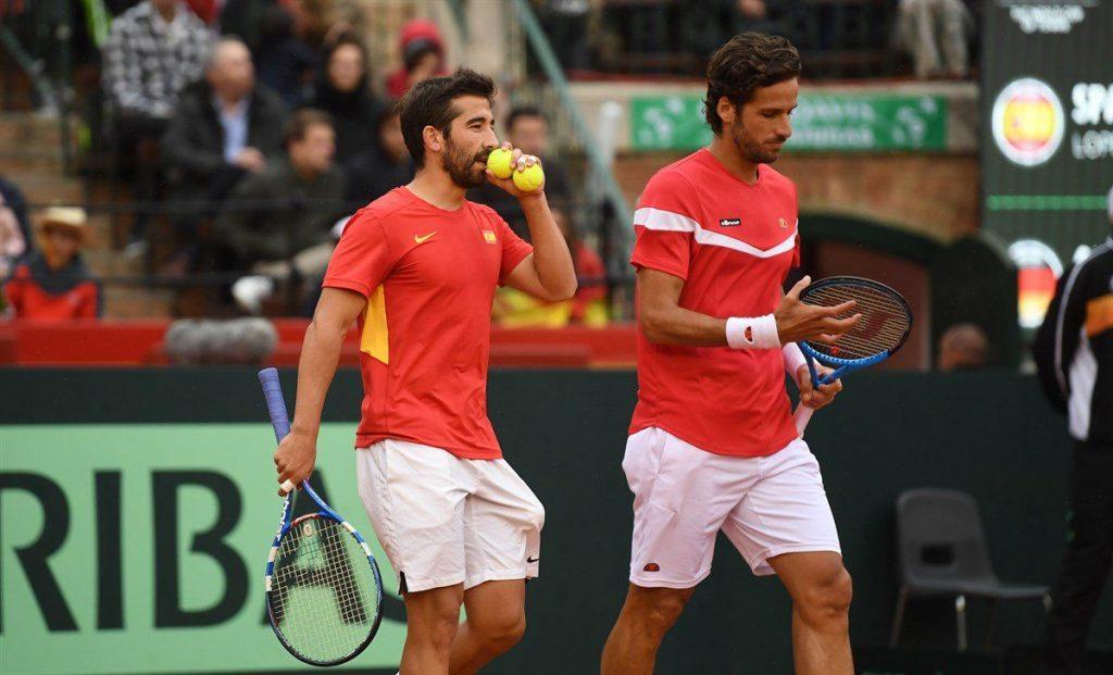 Feliciano y Marc López ante Alemania en la Copa Davis