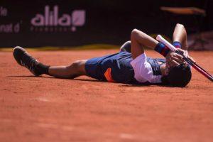 Federico Coria celebrando su primera victoria ATP