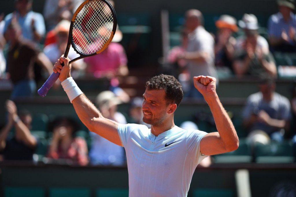 Grigor Dimitrov en Roland Garros 2018