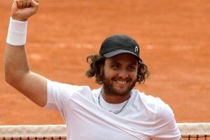 Trungelliti celebra su victoria en Roland Garros contra Tomic