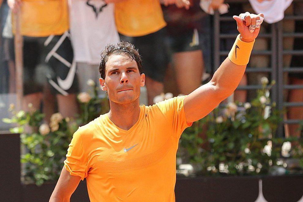 Nadal celebra la victoria en el Masters 1000 de Roma